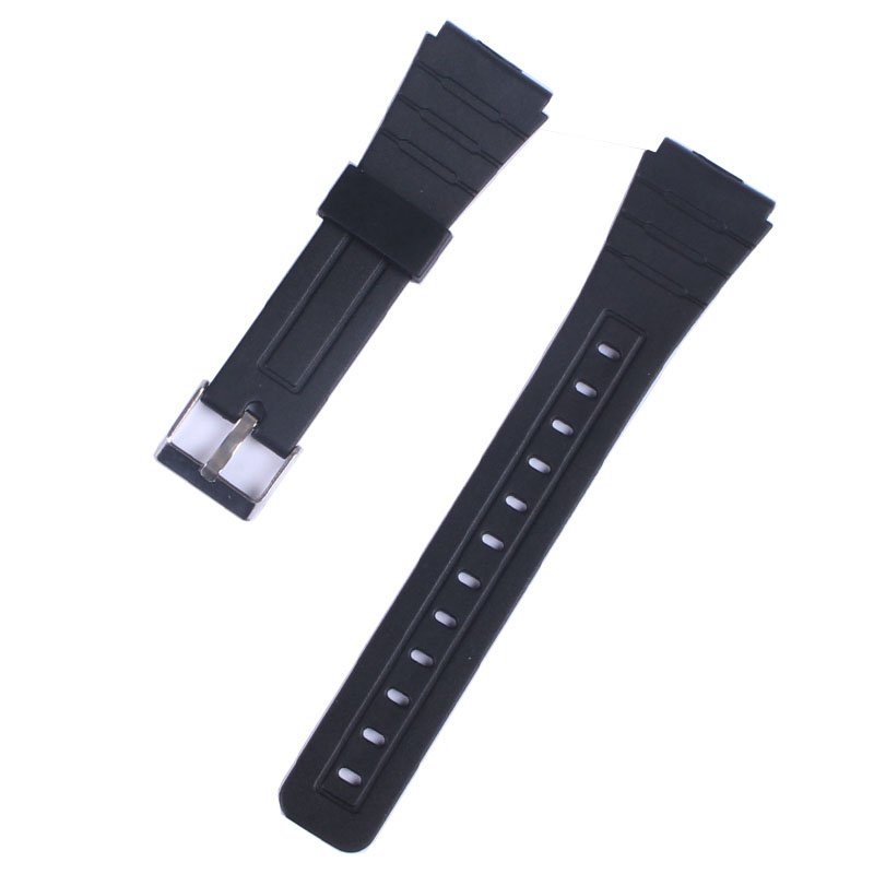 Black Watchbands Soft Silicone Rubber Strap Silver Buckle Wrist Women Watch Band Men Military Sweatband Sport Fashion 18mm 20mm 20mm silicone rubber watchbands men women sport waterproof watch band strap black red blue walnut metal buckle accessories