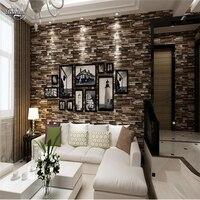 Beibehang 3D Stereo Culture Brick Wallpaper Living Room Bedroom TV Background Wallpaper Brick Brick Brick Shop