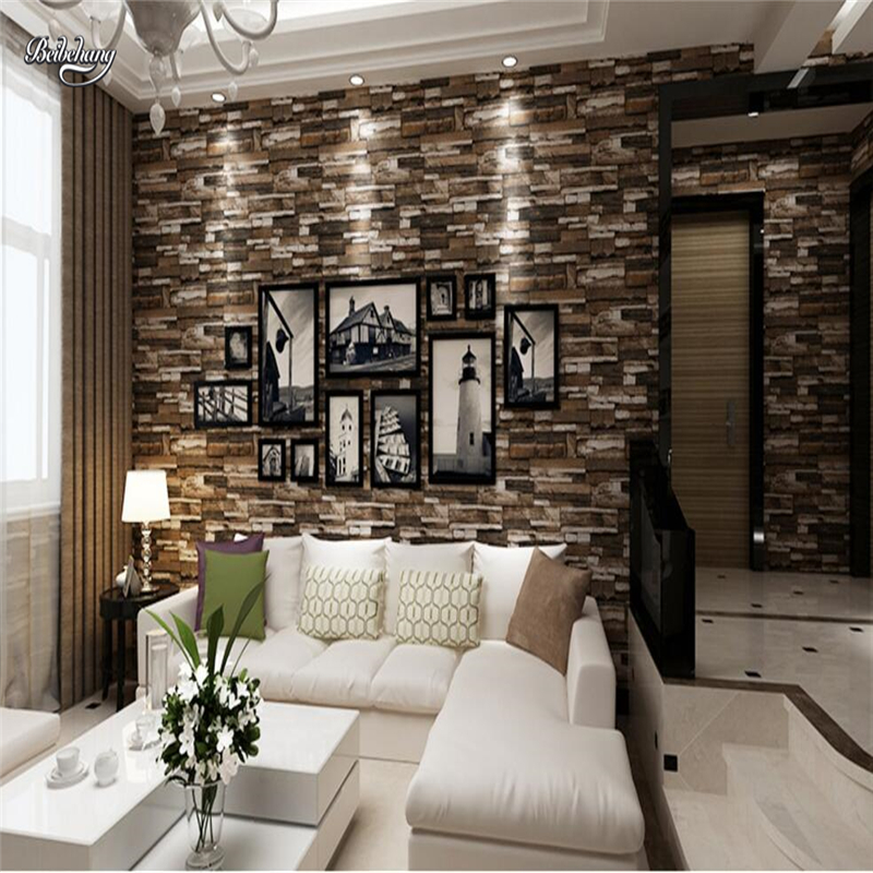 beibehang 3D Stereo Culture Brick Wallpaper Living Room Bedroom TV Background Wallpaper Brick Brick Shop papel de parede beibehang papel de parede 3d stereo fine simple european style bedroom living room tv background wall full of wallpaper