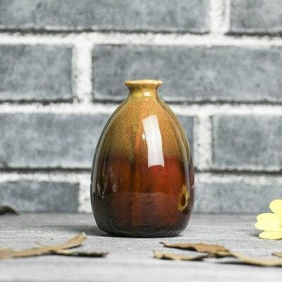 Высококачественные модные простые Творческий дом Керамика ремесел Керамика ручной работы Малый ваза настольная балкон Гостиная украшения