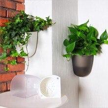 Большой размер, самополивающееся растение, цветочный горшок, настенный угловой пластиковый горшок для растений, корзина для сада, домашний сад с крючками