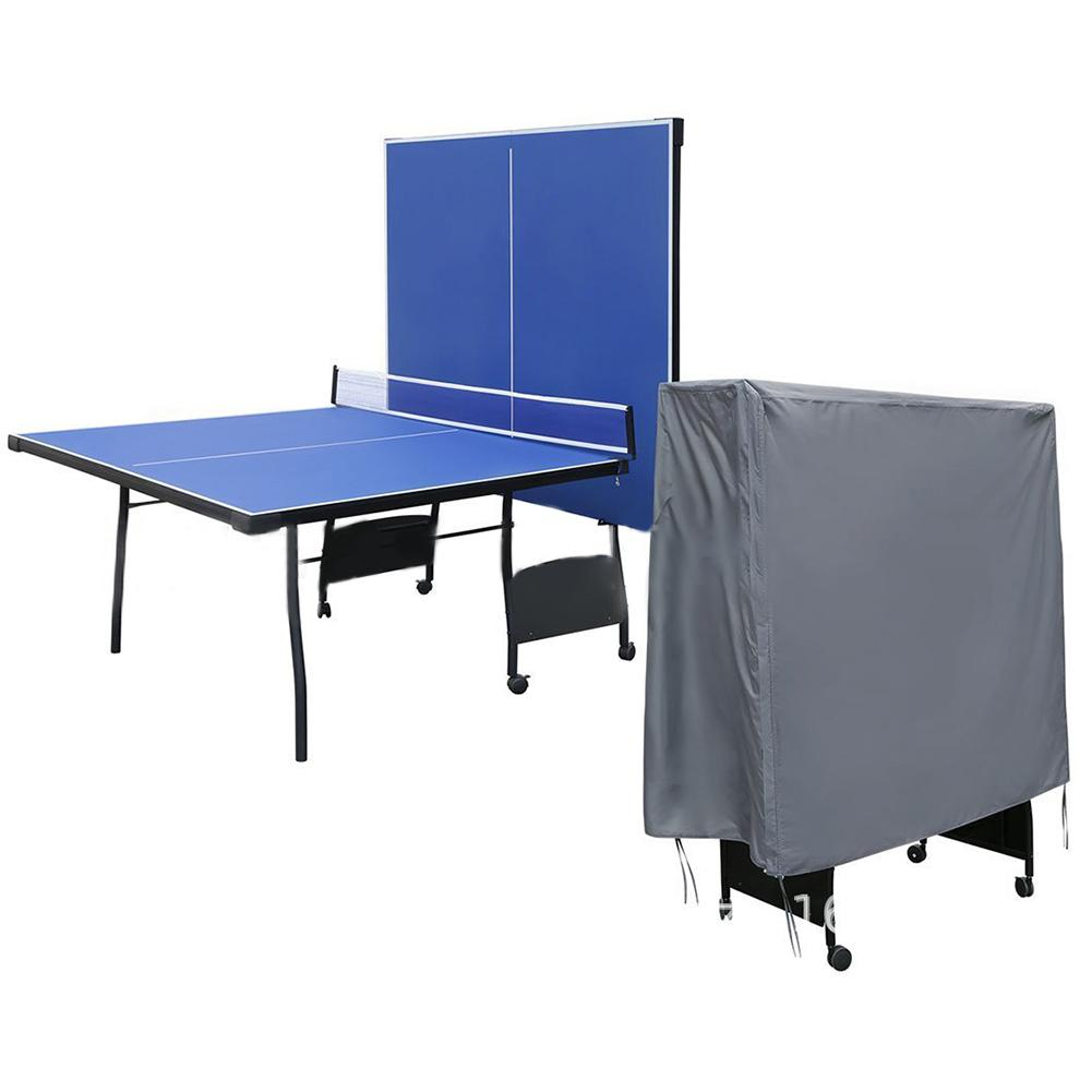 Full Size Ping Pong Table Storage Cover Indoor /Outdoor Table Tennis Sheet Grey Table Cover UV Protection Waterproof Dust Cover4