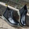 Tamanho grande 38-47 Martin botas Homens 2016 Genuína botas de couro Da Motocicleta Do Vintage do Outono Inverno homens sapatos tornozelo botas para homens