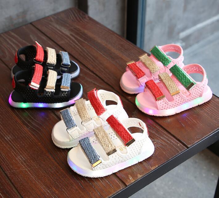 New fashion Child Sandals 2018 Boys Girls Sport Sandals Light Led Slip-resistant Children Baby Shoes Kids Beach Sandals