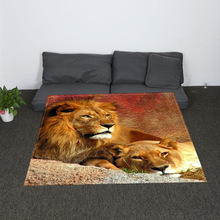 Digital Printed Lion Soft Sherpa Reversible Blanket Modern White Cross Pattern All Season Blanket for Bed Couch all over pattern blanket