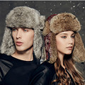 Kenmont Winter Unisex Women Men Natural Rabbit Fur Russia Aviator Trapper Bomber Cap Ski Hat 2322