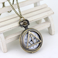 Deathly Hollows Pocket Watch Necklace Gl Dial Pocket Watch