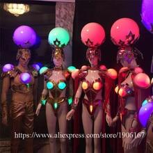 Новый Дизайн светодиодные фонари мяч Костюмы Вечеринка платье Костюмы для бальных танцев костюмы этап производительности Костюмы