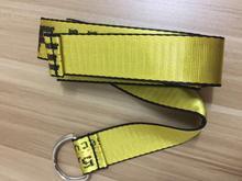 Rue Style industriel lettres jaune toile ceinture mode femmes hommes  unisexe ceinture broderie ceintures tissé femme tissu ceint. d6cae1c96b8