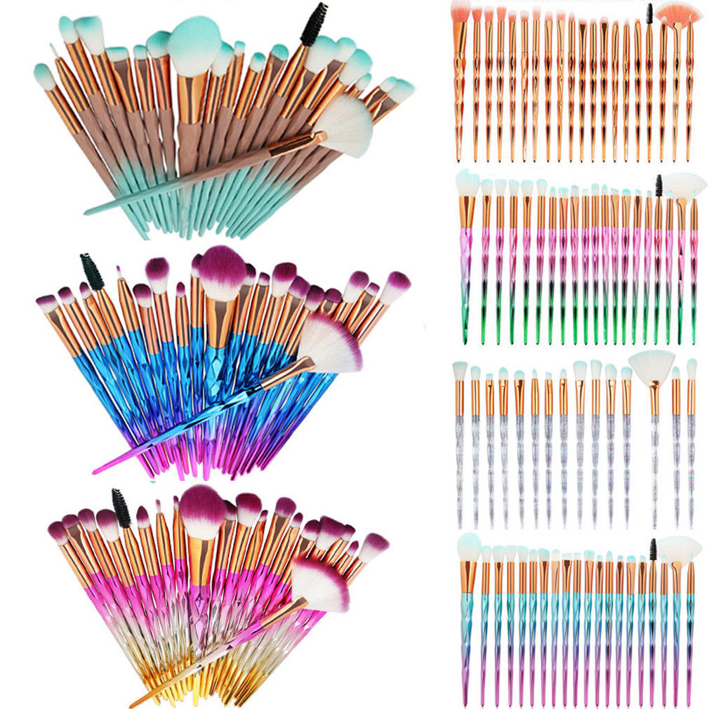 20PCS Unicorn Makeup Brushes Set Foundation Blush Face Powder Eye Shadow Brush