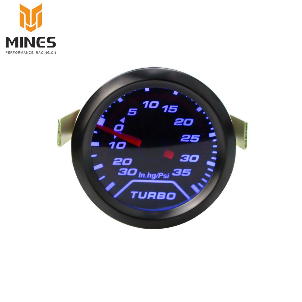 CNSPEED 2 52mm Turbo Boost Gauge PSI Smoke Dial blue LED Light Interior Dash Car Meter ms100179
