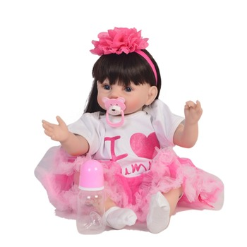 22inch baby reborn Dolls Silicone Girl Body 55cm toys For Girls  lifelike realistic Doll Best Gifts toys Christmas presents