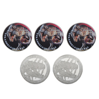 WR Khủng Long Tyrannosaurus Rex Commemorative Coin 999.9 Mạ Bạc One Million Dollar Đồng Tiền Kim Loại Nghệ Thuật Trang Trí
