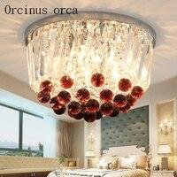 Европейский стиль современный простой кристалл потолочный светильник гостиной столовой спальня балкон проходу творческий кристалл потол