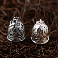 [King] silver deer jewelry wholesale S925 Sterling Silver Pendant double color bell DIY parts explosion