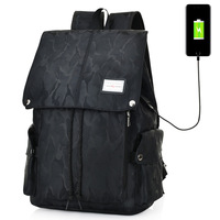 Antitheft backpack External usb charging interface backpack Anti theft Canvas High school students bag Multi functional backpack