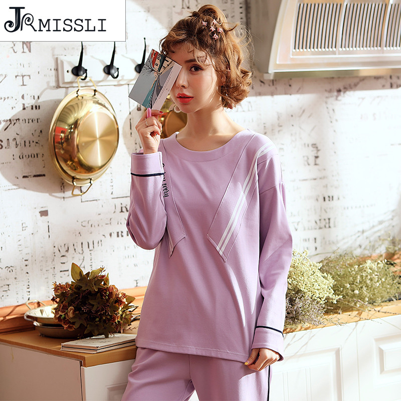 8f112dc482db Brand Pajamas Cotton Purple Cute Monkey Sleepwear Casual Long Sleeve ...