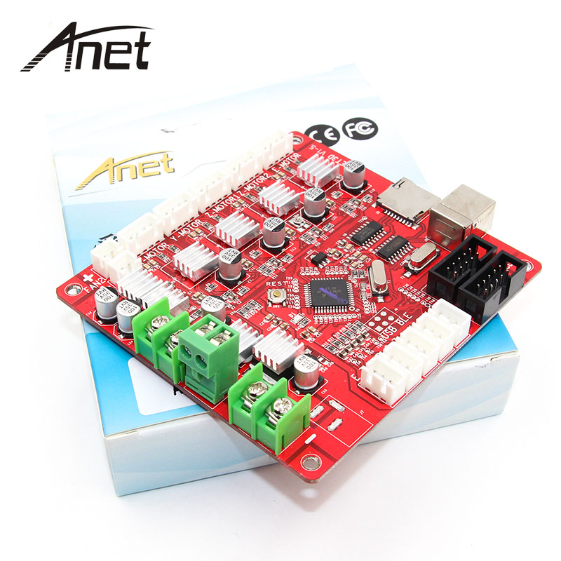 Anet A1284-Base Control Board Mother Board Mainboard for Anet A6 / A8 Assembly 3D Desktop Printer RepRap Pruse i3 Kit anet update version controller board mother board mainboard control switch for anet a6 a8 3d desktop printer reprap prusa i3