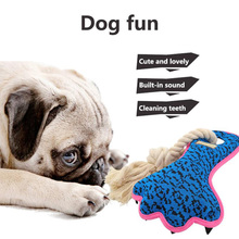 1PCS Molars Bites Pet Toys Teeth Bite-Resistant Cotton Sound Chew Dog Medium Big and Large Interactive Molar Toy