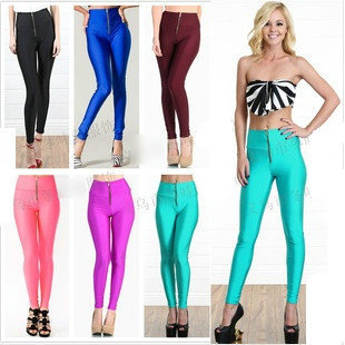 Aliexpress.com : Buy Womens Zip Up Front High Waist Stretch Skinny