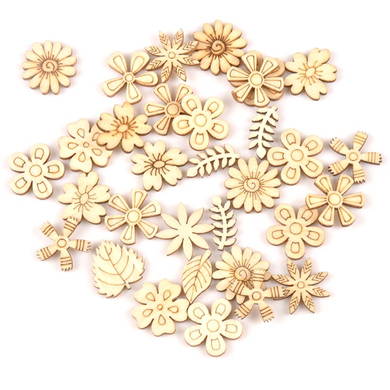 50pcs Natural mix Plant/Flower/grass pattern wooden Scrapbooking Carft for Home decoration diy Handmade Crafts 20mm MT180550pcs Natural mix Plant/Flower/grass pattern wooden Scrapbooking Carft for Home decoration diy Handmade Crafts 20mm MT1805