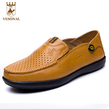 VESONAL 2017 Casual Shoes Men Loafers Brand Moccasins Male Spring Summer Genuine Leather Footwear Man Driver Boat Walking Ons
