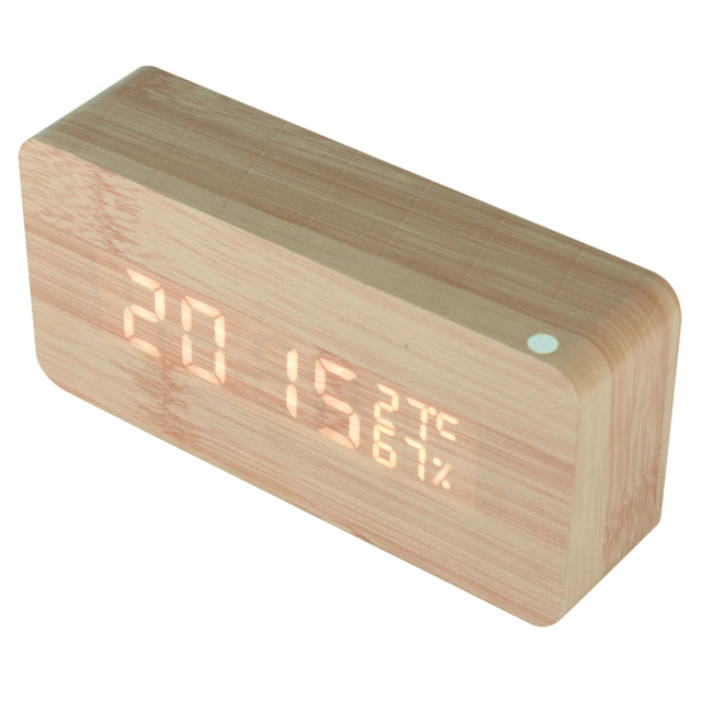 Alarm Unique Clocks Wood LED Light 2