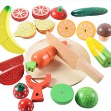 Игровой дом кухонные игрушки, фрукты и овощи Магнитный вырезанный Безопасный блок для детей Babby