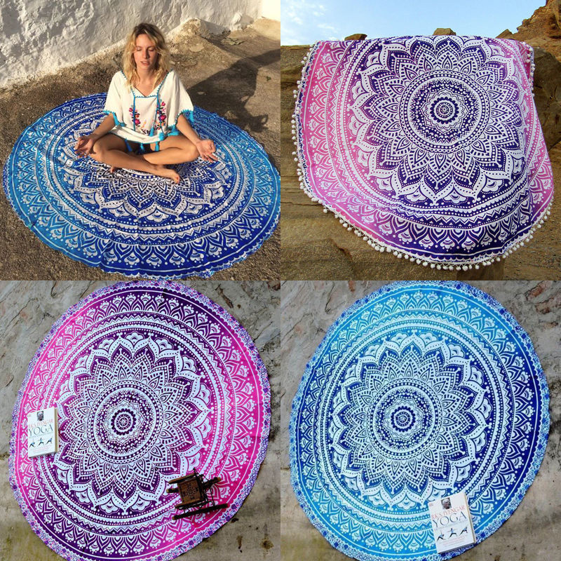 Wall Hanging Indian Tapestry Mandala Hippie Throw Beach Yoga Towel Mat Blanket