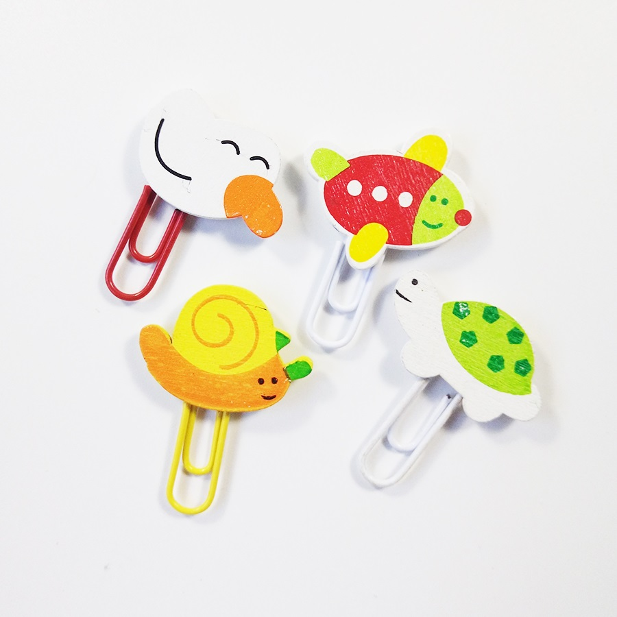 12 Pcs/lot Cute Cartoon Animal Paper Clip Bookmark Promotional Gift Stationery School Office Supply Home Decoration Clips