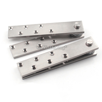 Top Quality 2PCS Stainless Steel Heavy Duty Door Pivot Hinges 360 Degree Rotary Hinges Wood Door Hidden Hinges Install Up&Down