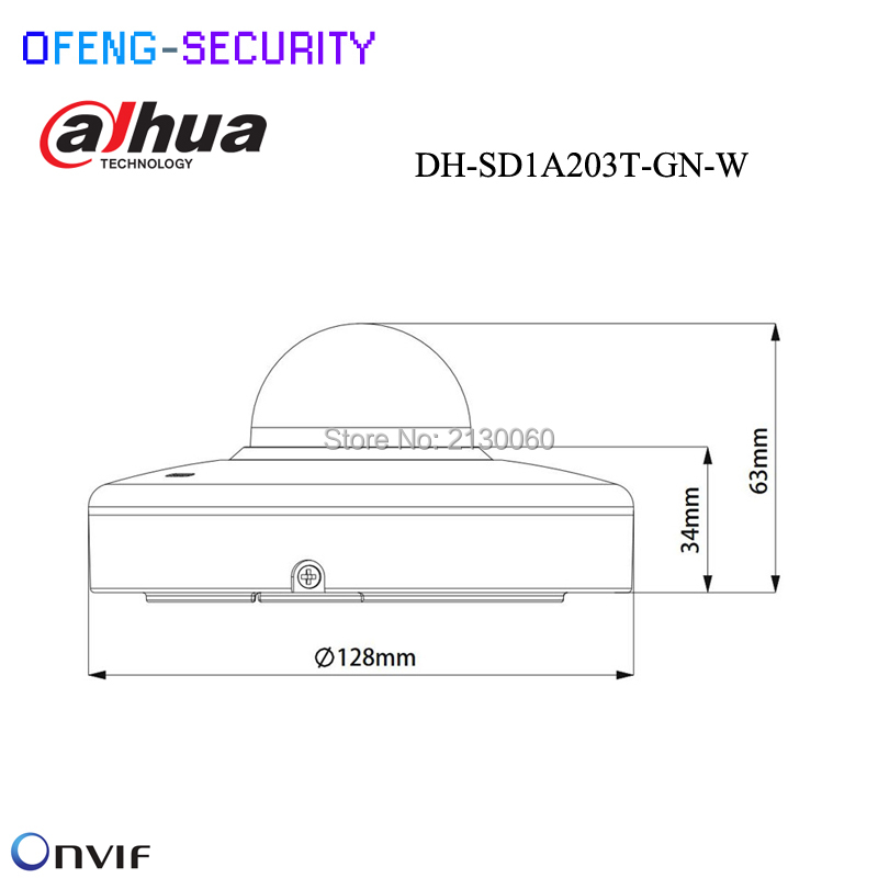 Dahua DH-SD1A203T-GN-W Support Wi-Fi 1/2.8 2Mp STARVI CMOS IR15m IP66 IVS 2MP 3x Starlight IR PTZ Wi-Fi Network Camera IP came