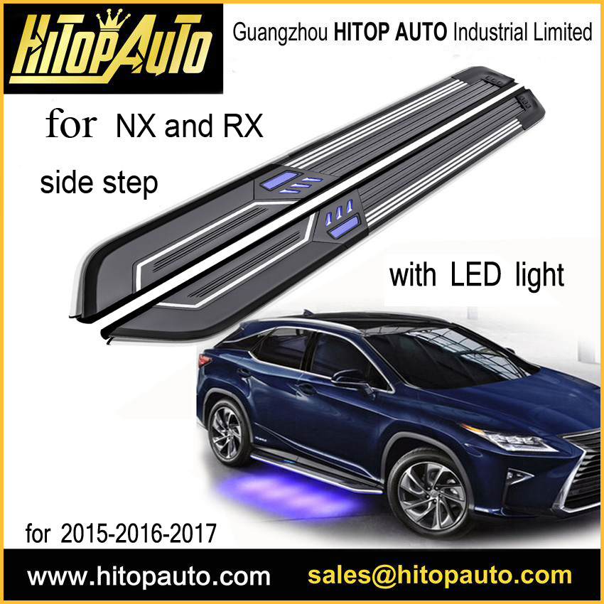 New technology LED side step running board side bar for NX NX200T NX300h RX RX200T RX350