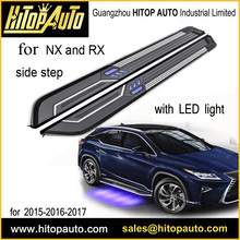 Neue technologie FÜHRTE seite schritt/trittbrett/seite bar für NX NX200T NX300h RX RX200T RX350 RX450h, von ISO9001: 2008 fabrik