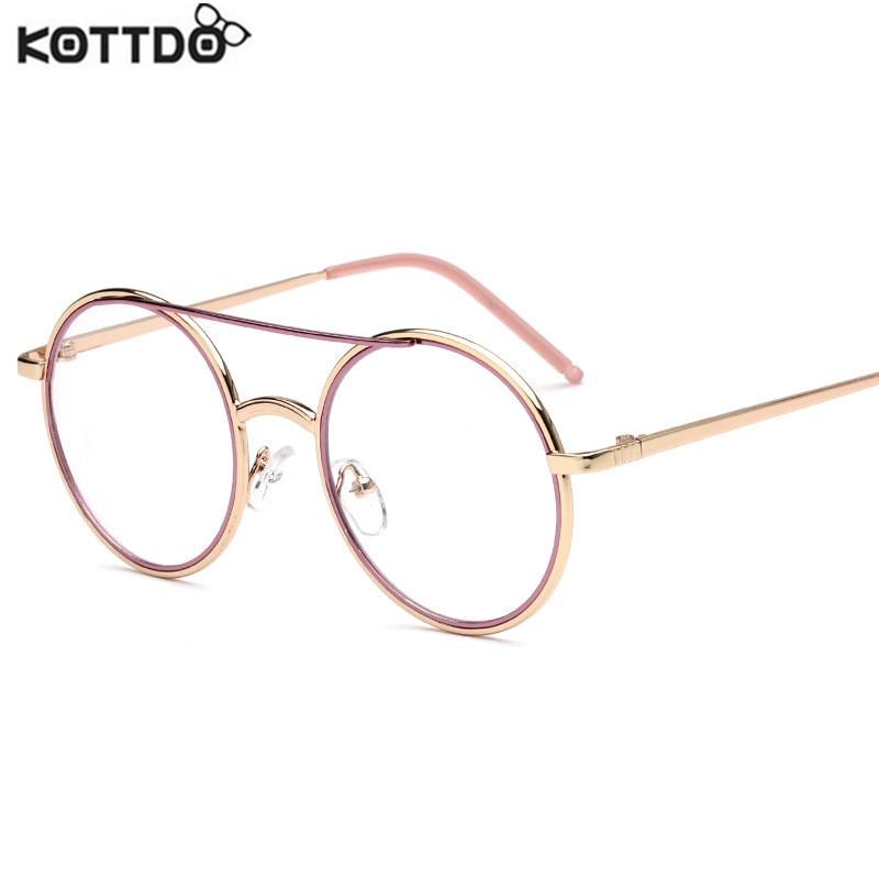 ᐅKOTTDO 2017 mujeres Vintage gafas Marcos Redondo transparente ...