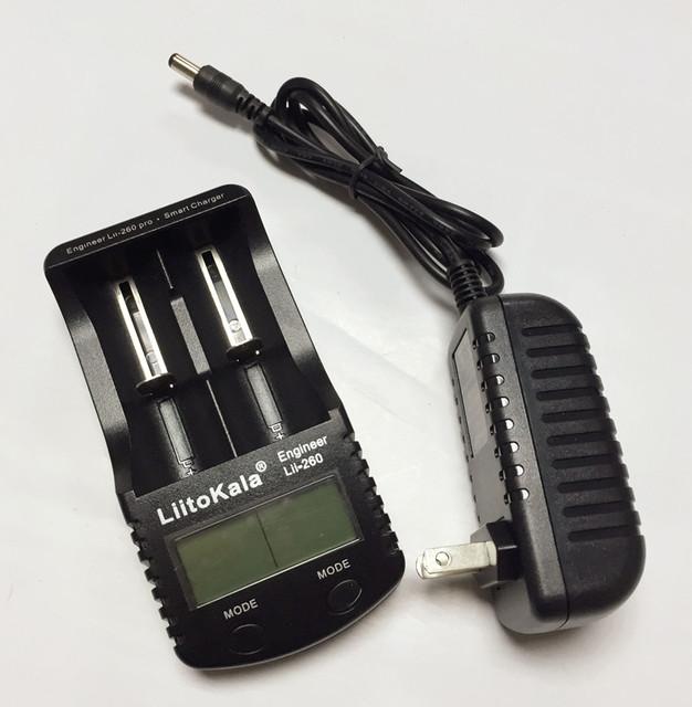 Liitokala lii-260 18650/26650/16340 Carregador De Bateria de Lítio, a Detecção de Capacidade Da Bateria/resistência interna/tensão + adaptador