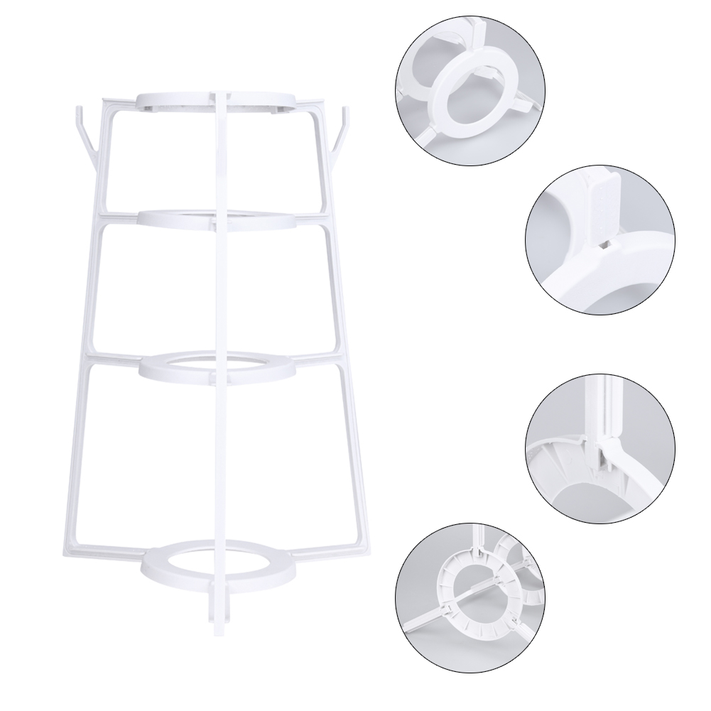 4 Layers Multi-function Plastic Pot Holder Creative Dishes Drain Rack Shelf Cutting Board Storage Shelf Kitchen Accessories