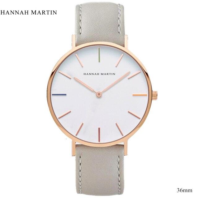 ca11ab5a8d32 Reloj de pulsera de cuero de marca de lujo para hombre