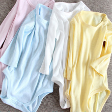 Baby Bodysuit Clothing Overalls Long-Sleeves Children 100%Cotton Solid