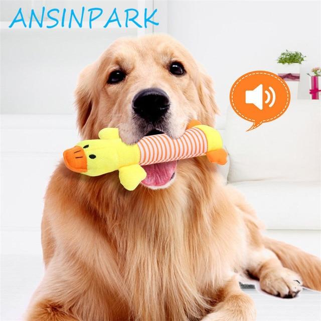 ANSINPARK animale chew giocattolo del gatto del cane vocalizzazione in bambole d