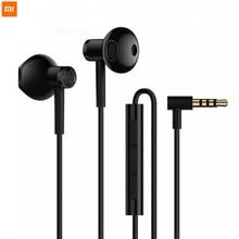 Nuovo originale Xiaomi Mi Dual unit Half In Ear Earp hones 3.5MM Wire Control auricolari Xiaomi per Mi A1 Redmi 5 Plus Smartphone