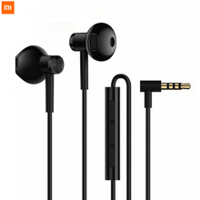 Original Neue Xiaomi Mi Dual Einheiten Halbe In Ohr Earp schärft 3,5 MM Draht Control Xiaomi Kopfhörer für Mi a1 Redmi 5 Plus Smartphone