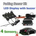 Car Parking System with 4 Sensors 22mm + LED Display + Buzzer Alarm, Auto Parking Sensor Kit Radar System