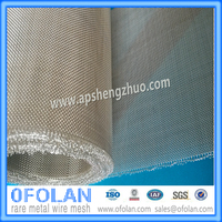 100 mm Width Pure Silver Wire Mesh For Battery Collect Mesh