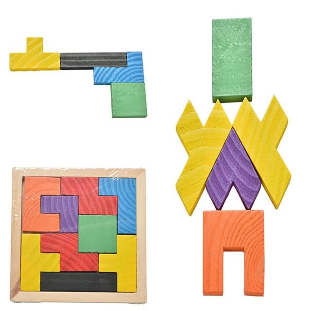 Aliexpress Com Comprar De Madera Tangram Rompecabezas Juego Tetris