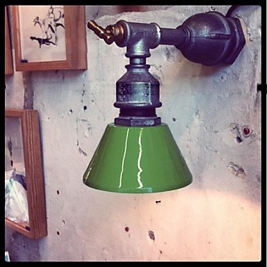 Nordic Loft Industrial Sconce Vintage Wall Light Fixtures For Home Iron Water Pipe Lamp LED Wall Indoor Lighting Lampara Pared iwhd 2 heads black retro led wall light fixtures home lighting iron metal loft industrial vintage wall sconce lamp lampara pared