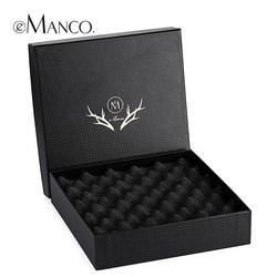 Черный ювелирные изделия подарочная коробка, ожерелья коробка с ударопрочный пузырь площадку 18 * 18 * 4 высокое качество упаковка показать