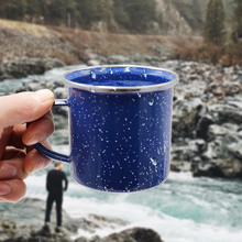 Hot Sale 330ML Camping Heat-proof Enamel Mug Milk Coffee Cup Classic For Outdoor At Home
