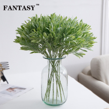 30pcs Plastic Olive Leaves Fake Tree Leaf Artificial Plant Branch Green False Foliage Willow Bouquet For Christmas Indoor Decor