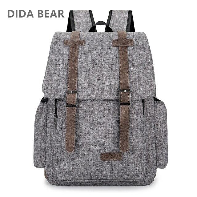 4645068985 2018 Women Men Canvas Backpacks Large School Bags For Teenager Boys Girls  Travel Laptop Backbag Mochila Rucksack Gray Black Red